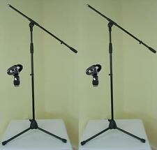 2 x ADAM HALL Mikrofon-Ständer ECO mit Mikrofonklemme und Galgen Mikrofon-Stativ