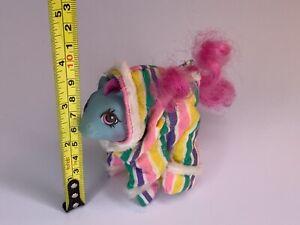 ❤️My Little Pony MLP G1 Vtg Newborn BABY SHAGGY Teddy Bear Blue Pink❤️