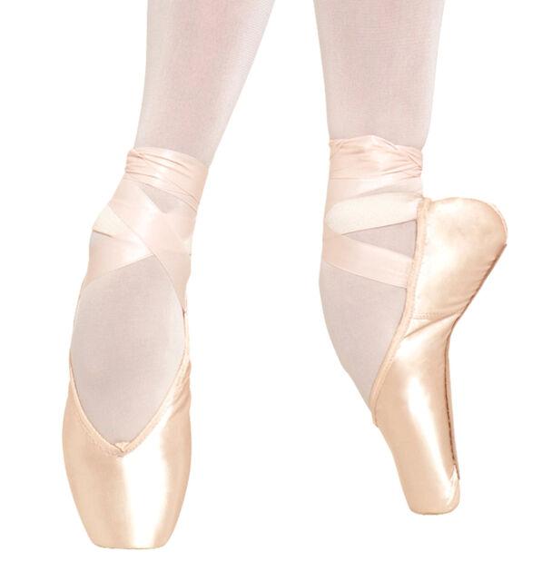 """Bloch /""""Suprima/"""" Pink Pointe ballet shoe 8B Adult Size 7B,7.5B"""