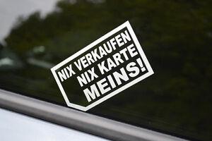 2x Nix Verkaufen Nix Karte Meins Aufkleber Sticker