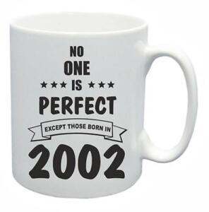 17th-Regalo-Compleanno-Novita-Tazza-da-te-NESSUNO-e-PERFETTO-2002-COFFEE-CUP