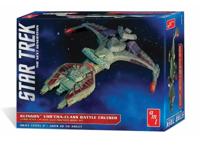 Star Trek Klingon Vor'cha Class Battle Cruiser - AMT 1 1400 Scale Plastic Kit