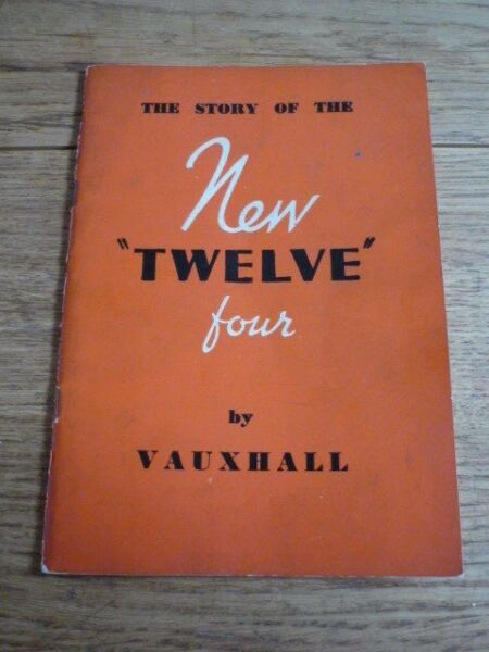"""nuovi"" Vauxhall 12-quattro Standard E De Luxe Berlina Sales Brochure Ritardo 30's"