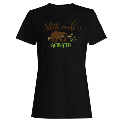 Sloth Mode Activated Ladies T-shirt//Tank Top n916f