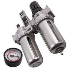 G12 Air Compressor Filter Oil Water Separator Trap Tools Regulator Gauge Alloy