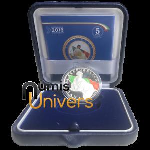 5 EURO COMMÉMORATIVE ITALIE 2018 ARGENT BE - 70 ANS DE LA CONSTITUTION ITALIENNE