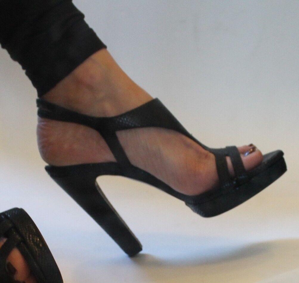 Designer high heel schuhe in schwarz, by Vic , made  in  Größe 38  made (7 1/2 ) 650f25