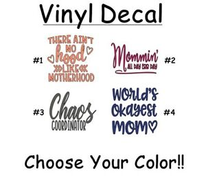 """Car Glass Tumbler Window Hot Mess 3/"""" Vinyl Decal Sticker for Cup Laptop"""