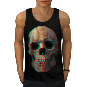 a205d9d5a5579d Image is loading Wellcoda-3D-Human-Skeleton-Skull-Mens-Tank-Top-