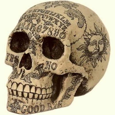 Ouija Skull Schädel Gothic Deko Spirit Board Magie Figur Skulptur