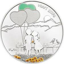 2014 Cook Islands $5 Silver Proof First Love - the Coin You Can Paint