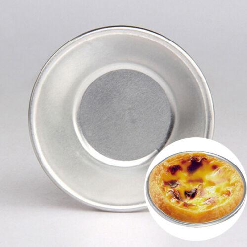 30pcs Aluminum Alloy Egg Tart Cupcake Cake Cookie Pudding Mould Baking Tool US