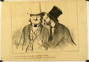 Utile Lithographie De Daumier, Croquis Parisien