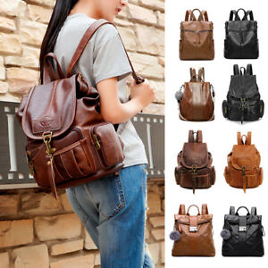 0411e45068ea Details about Women's PU Leather Backpack Purse Ladies Casual Shoulder Bag  School Bag for Girl