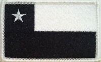 Chile Tactical Flag Iron-on Patch Black & White Chileno Emblem Mc Biker