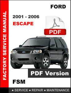 Auto Parts & Accessories Repair Manuals & Literature FORD ESCAPE ...