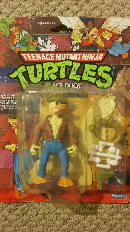 1989 TMNT Ace Duck Hat on Vintage azione cifra Unopened MOC Teenage Mutant
