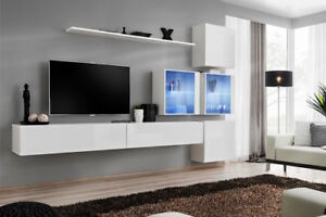 Details About Shift 19 Contemporary Entertainment Center Modern Tv Wall Unit