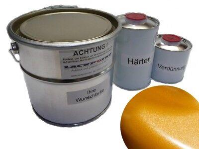 Auto & Motorrad: Teile 1,75 Liter Set 2k Autolack Brillant Orange Metallic Kein Klarlack Trend Tuning Werkzeuge
