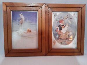 Margaret-Tarrant-Two-Vintage-Alice-in-Wonderland-Lithograph-Prints-Framed