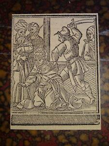 Ecole-ESPAGNOLE-XVI-GRAVURE-PAPE-SAINT-FABIEN-MARTYR-ESPAGNE-RENAISSANCE-1550