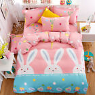 Single Queen King Bed Set Pillowcase Quilt Duvet Cover Cotton Blend tAUL Rabbit