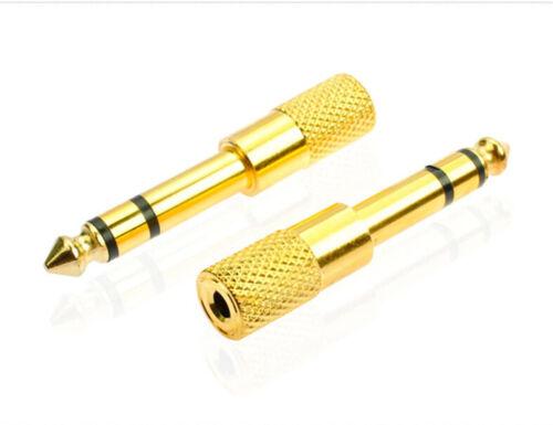 1//8 3.5mm Female to 6.5mm 1//4 Male Headphone Stereo Audio Jack Adapter Plug