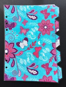 Filofax a5 organiser planner pink flowers with blue dividers image is loading filofax a5 organiser planner pink flowers with blue mightylinksfo