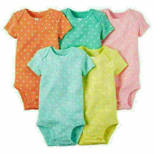 5Pc Newborn Baby Toddler Boy Girl Romper Jumpsuit Bodysuit Outfits Clothes Child