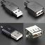 Connecteur-USB-2-0-Male-Femelle-Fiche-Prise-a-Souder-Connector-Plug-Socket-DIY miniature 1