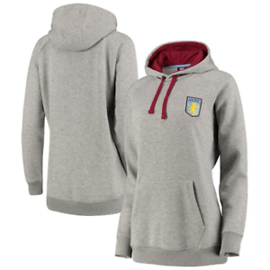 Aston Villa Women/'s Hoodie Oversized Hoodie Grey New