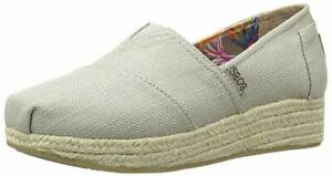 Bobs-From-Skechers-Wedge-Canvas-Shoe-Taupe-Choose-Size-Brand-New