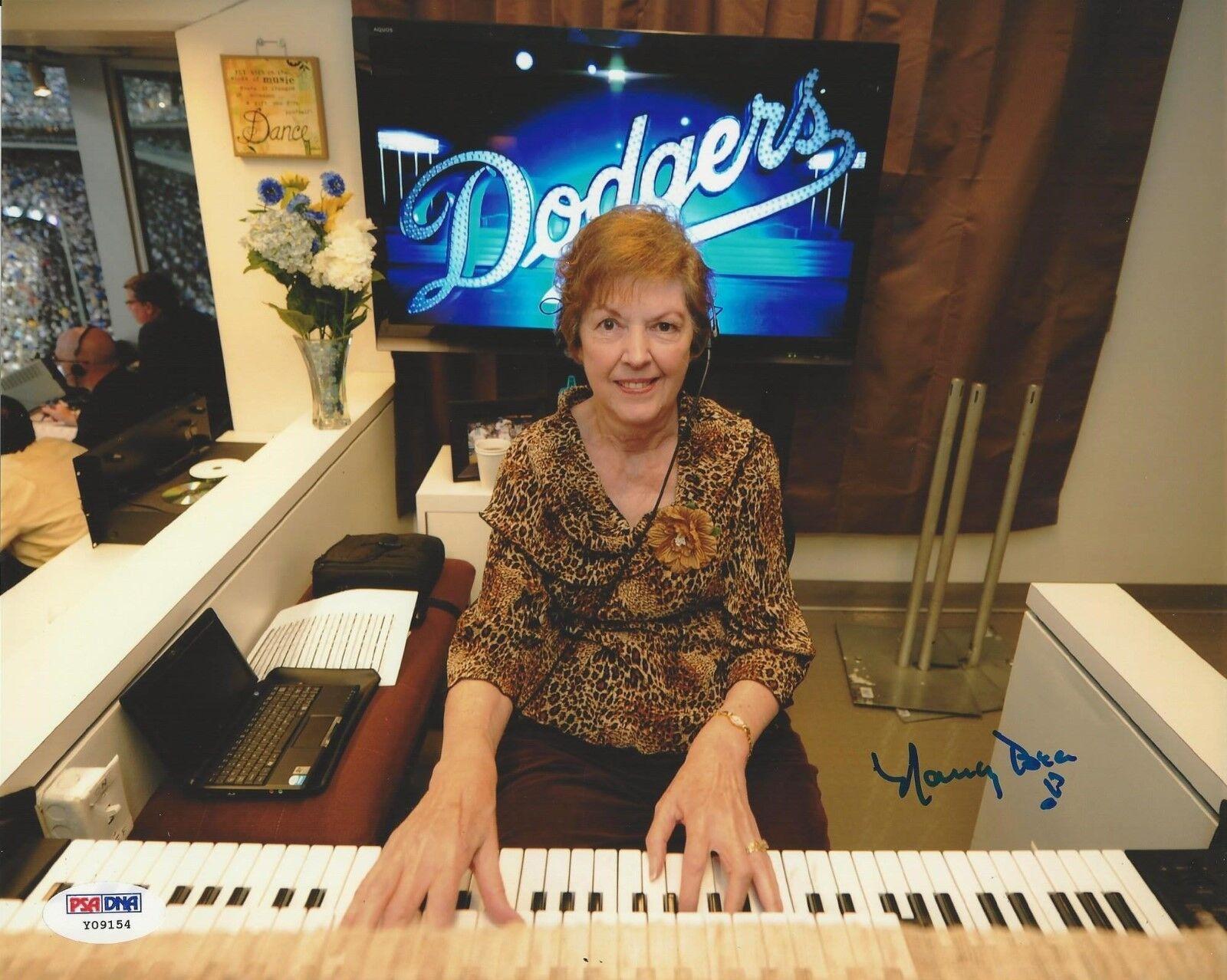 Nancy Bea Hefley Dodgers Organist Signed 8x10 - PSA/DNA # Y09154