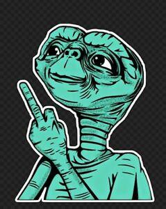 Image Is Loading  E T Funny Alien Ufo Finger Extraterrestrial E