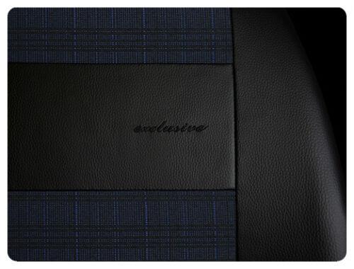 Cubiertas De Asiento De Coche Apto Vauxhall Zafira-Juego Completo Negro//Azul//poliéster De Cuero