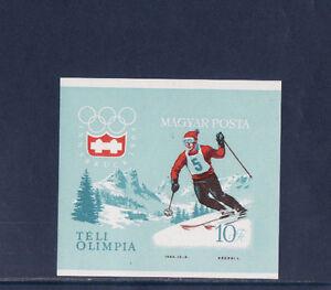 Hongrie-bloc-sport-ski-jeux-olympiques-1964-num-BF-46-ND
