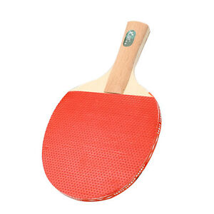 Table Tennis Racket Professional Ping Pong Paddle Bat W/3 Balls Short Handle