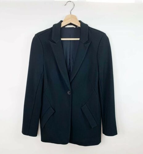Soft Surroundings Womens One Button Blazer Black S