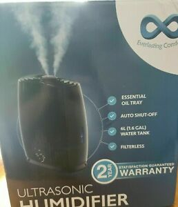 Details about Everlasting Comfort Humidifier (6L) Humidifier With Essential Oil Tray(Black)