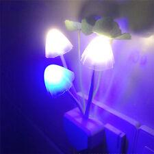 LED Wall Night Lights Mushroom Sensor Lamp for Baby Kids Bedroom with US-plug