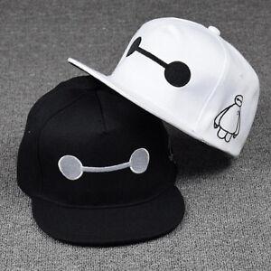 8d4acecb60c Kids Baseball Cap Big Hero 6 Baymax Adjustable Snapback Hat Hip-hop ...