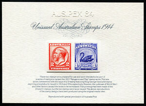 Australia-Replica-Card-1-KGV-Swan-Unissued-Die-Proof