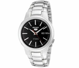 Seiko-5-Automatic-Black-Dial-Silver-Stainless-Steel-Mens-Watch-SNKA07K1-RRP-169