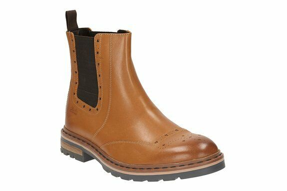 Clarks Herren Dargo Top schwarz oder tan Brogues Stiefel EU 7,8, 9,10 g