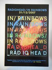 ▓ PLAN MEDIA 4 PAGES ▓ RADIOHEAD : IN RAINBOWS ( 31/12/2007 )