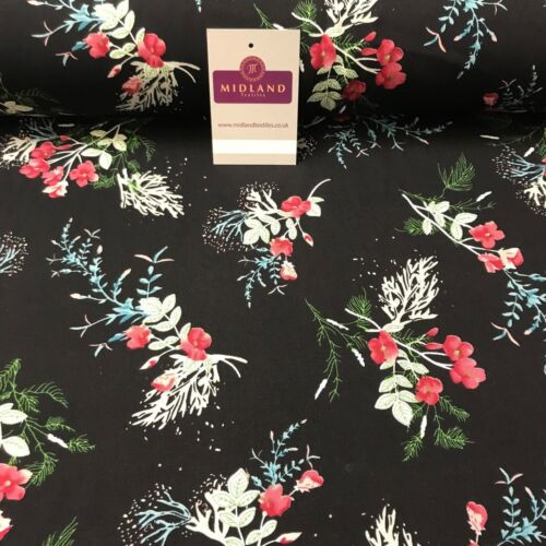 Floral Vintage Printed Viscose Dress Fabric 58 wide MA887