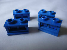 LEGO 1 x 2 BLUE HINGE BRICK x 4 (COMPLETE ASSEMBLY) PART 3937c01