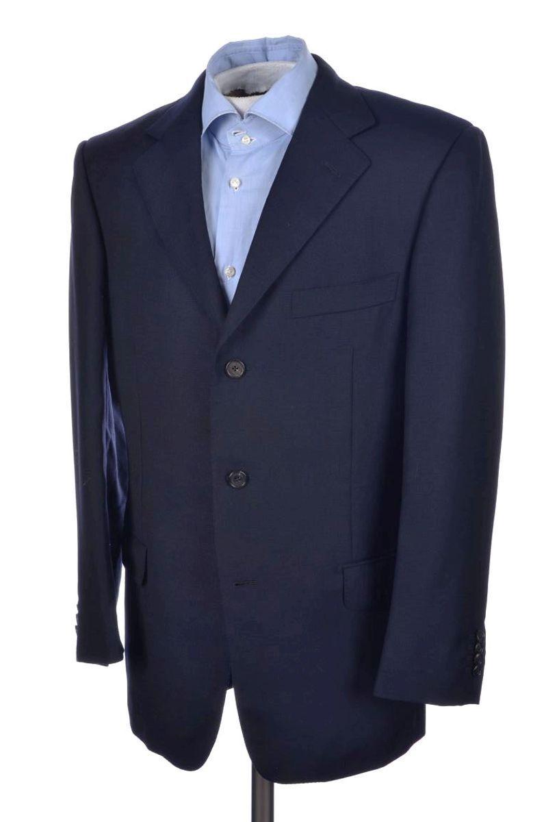 Ermenegildo Zegna HP Color Azul Tejido De Lana  Hombre Abrigo Chaqueta Blazer Sport - 40 R  ventas calientes