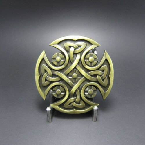BRAND NEW CELTIC CROSS IRISH BRONZE ANTIQUE GOTHIC BELT BUCKLE