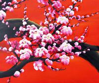 Cherry Blossoms Painting 2 - Cross Stitch Chart
